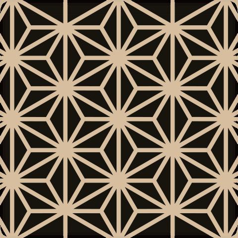 Kumiko Asanoha Pattern