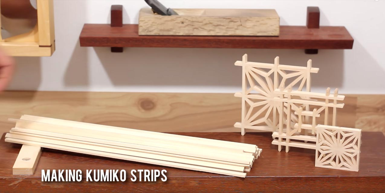 Making Kumiko Strips Using Only Hand Tools